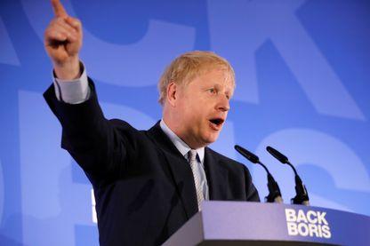 Boris Johnson lors de son discours de lancement de sa campagne pour le leadership du parti conservateur