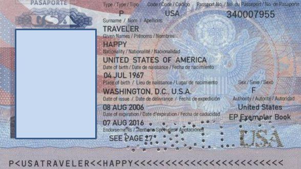 Un exemple de passeport américain contrôlé par le SANDIA