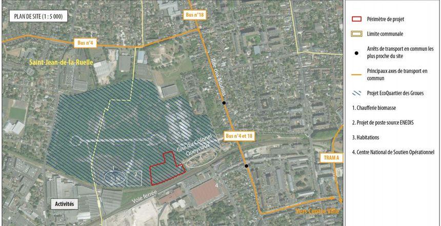 L'emplacement de la future SAS des Groues présenté dans le dossier d'enquête publique - Aucun(e)