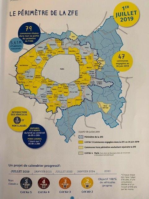 La carte des communes qui appliquent la ZFE