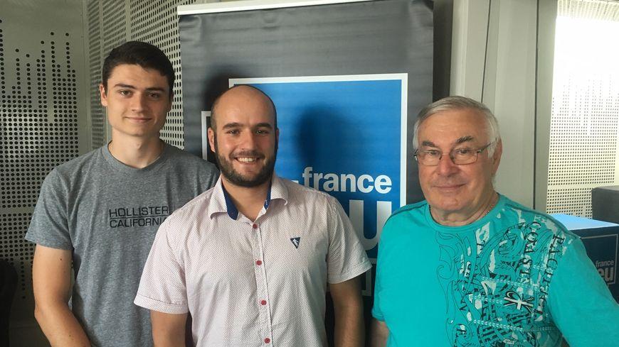 De gauche à Droite Antoinne Bonelli, Romain Dupin et Maurice Marsal.