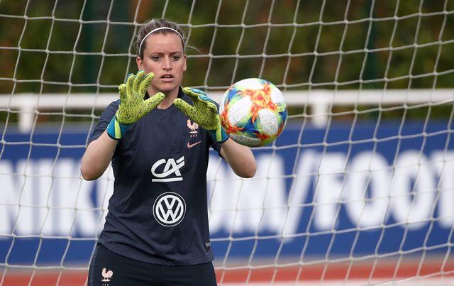 Solène Durand lors d'un entraînement de l'équipe de France à Clairefontaine
