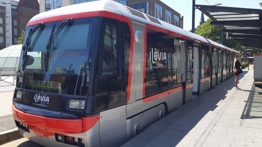 Le terminus du tramway Lille-Roubaix, à Eurotéléport