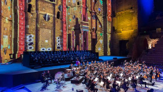 Le théâtre antique d'Orange, cadre de la soirée Musique en fête