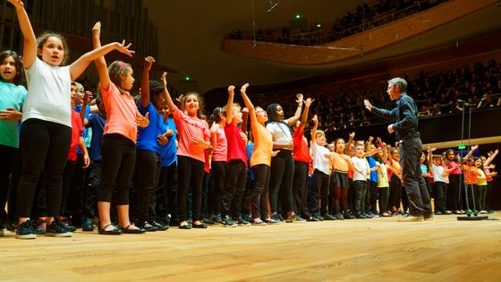 Le concert de la première édition d'Ecole en choeur en juin 2018 à la Philharmonie de Paris.