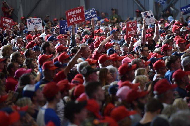 Meeting de campagne de Donald Trump à Pensacola en Floride en novembre 2018