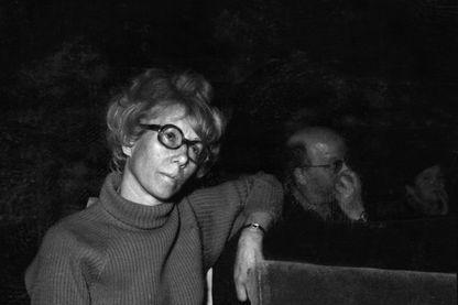 """Photo prise en avril 1968 à Paris du docteur Marie-Andrée Lagroua Weill Hallé fondatrice en mars 1956 de l'association """"Maternité heureuse"""", qui deviendra le Mouvement Français pour Planning Familial en 1960."""