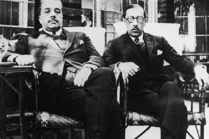 Igor Stravinsky et l'impresario Sergei Diaghilev à Séville, 1921