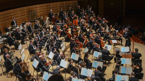 L'orchestre symphonique de Cleveland, dirigé par Franz Welser-Möst