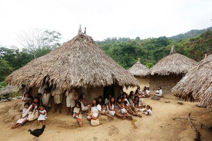 Indiens Kogis en Colombie, dans la Sierra Nevada de Santa Marta