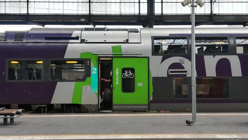 5 à 6 tracks à vélo existent dans chaque rame de TER.