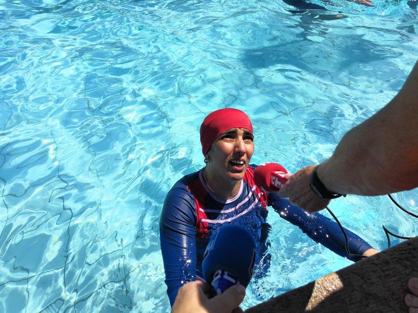 L'objectif : faire parler du burkini pour demander son autorisation dans les piscines publiques