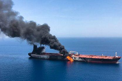Le pétrolier norvégien Front Altair dans les eaux du golfe d'Oman le 13 juin 2019