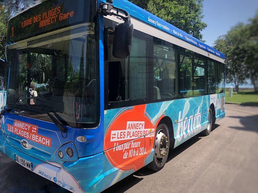 L1 et L2, les deux lignes de bus pour rejoindre les plages du lac d'Annecy.