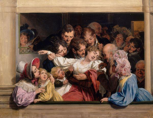 Louis-Léopold Boilly, L'Effet du mélodrame, vers 1830, huile sur toile, Versailles, musée Lambinet,