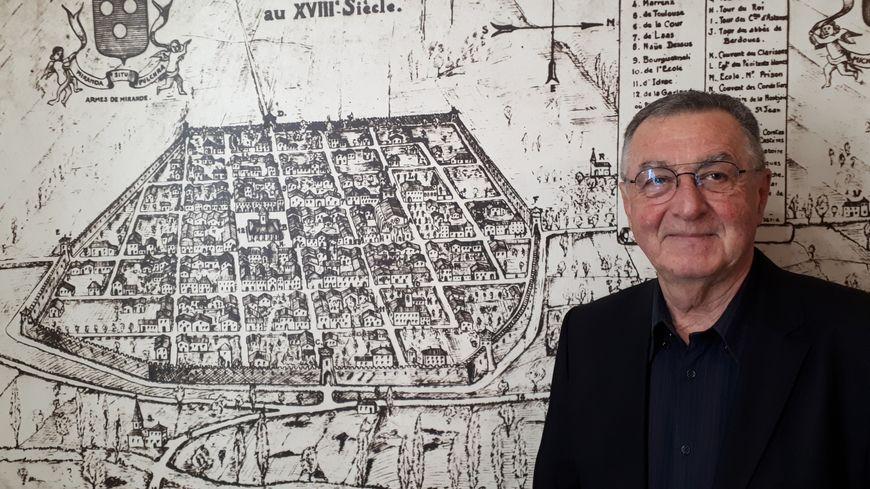 Pierre Beaudran, maire de Mirande et président de l'association Cittaslow France