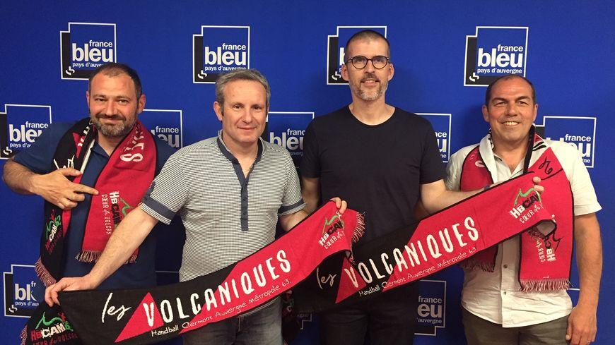 De g. à d. : Jean-Luc Guillet, Vincent Salesse, Guillaume Vizade et Jean-Pierre Morel