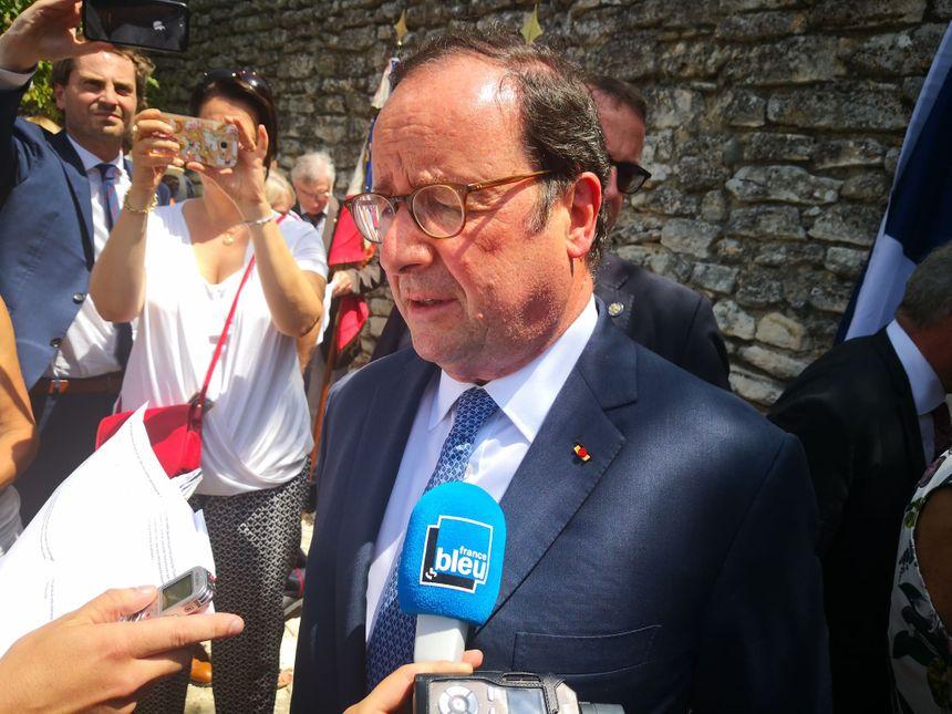 L'ancien président de la République a profité de la cérémonie pour revenir dans la Drôme