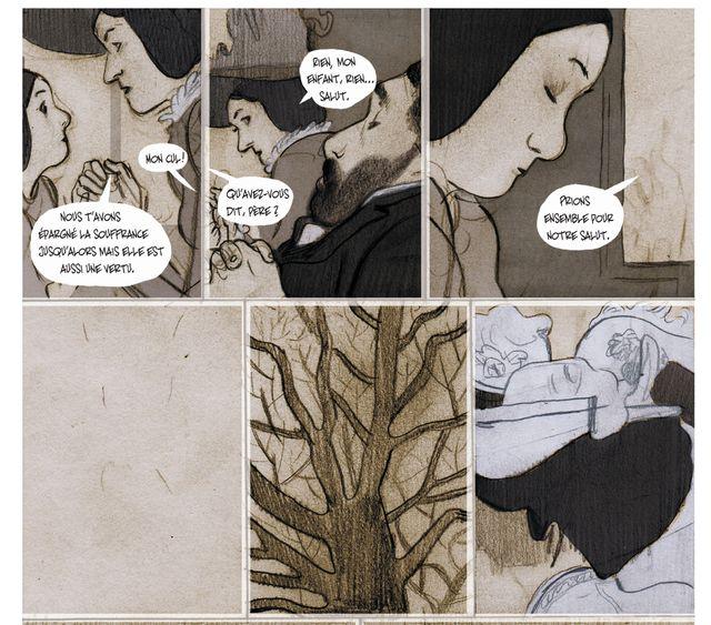 """Détail de """"Mécaniques du fouet, vies de Sainte-Eugénie"""" de Christophe Dabith et Jorge Gonzalez"""