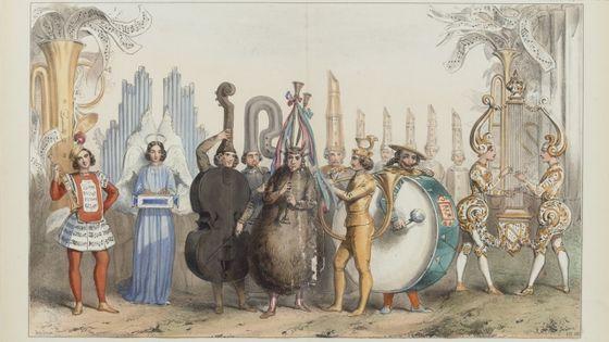 Le royaume de la musique, Poule aux oeufs d'or, Nouveau Cirque. Estampe / A. Lacauchie