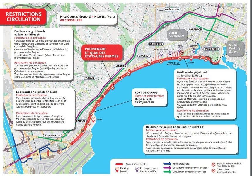 Restrictions de la circulation en raison de l'Ironman 2019