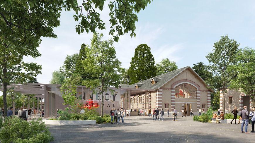 On sait à quoi ressemblera le haras d'Annecy une fois rénové. Ce lundi, les images du projet de transformation de ce site ont été présentées. (Dessin d'architecte, cabinet Devaux et Devaux)
