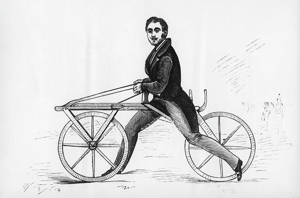 Karl Drais et son vélocipède