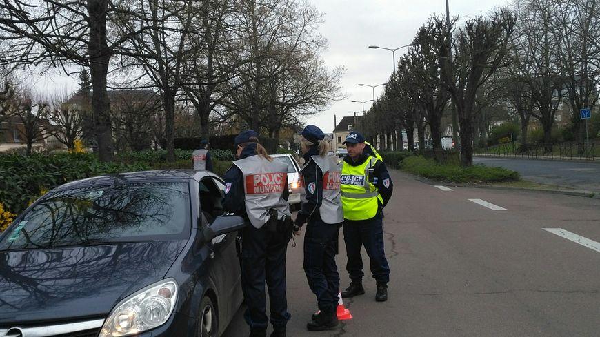 Un contrôle routier à Auxerre ( photo d'illustration)