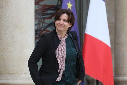 Roxana Maracineanu, Ministre des sports à la sortie de la réunion hebdomadaire du gouvernement, le 7 mai 2019 à Paris.
