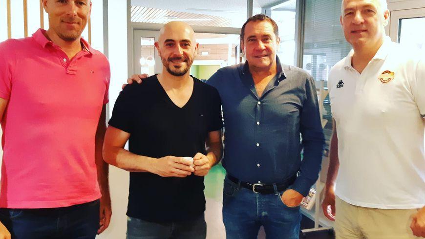 De gauche à droite : Johan Blot, Germain Castano, Didier Nouraud, Philippe Pezet
