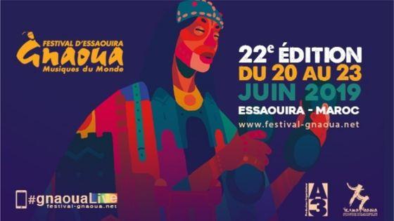 affiche 2019 du Festival Gnaoua et Musiques du Monde d'Essaouira