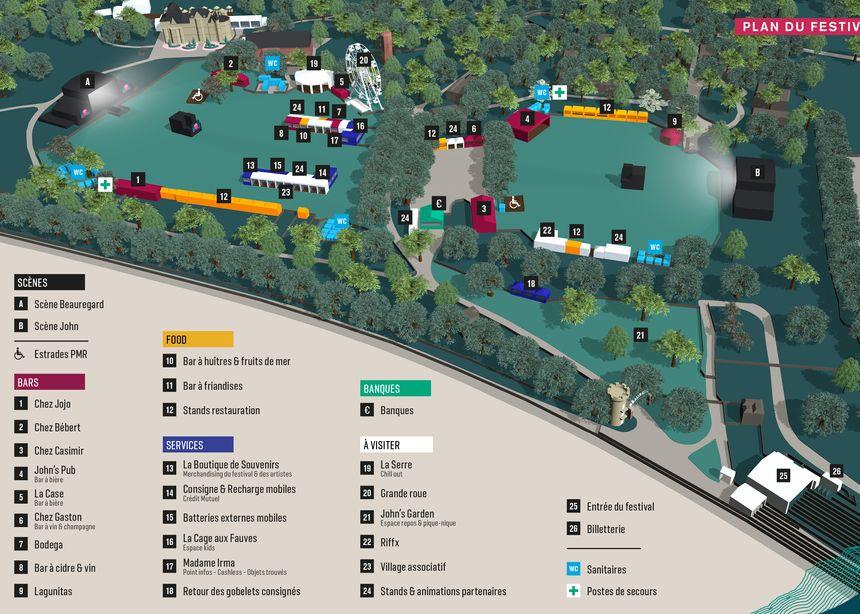 Le plan du festival Beauregard 2019