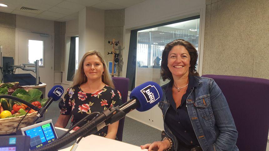 Mélanie de la Ferme du HOME à Varraville (gauche) et Virginie Tougard du restaurant gastronomique l'Eden à Houlgate