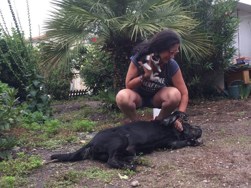 Florence accueille 18 animaux dans sa maison.