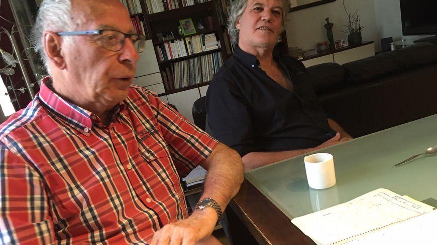 Jean cadet, 83 ans, aux côtés de Bruno Lemerle, délégué Cgt des retraités de PSA Sochaux