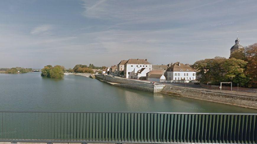La Saône au niveau de Seurre. /Photo capture d'écran.