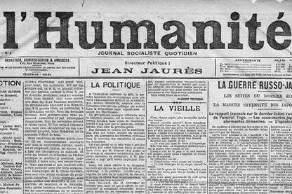 Une de l'Humanité, 5ème numéro.