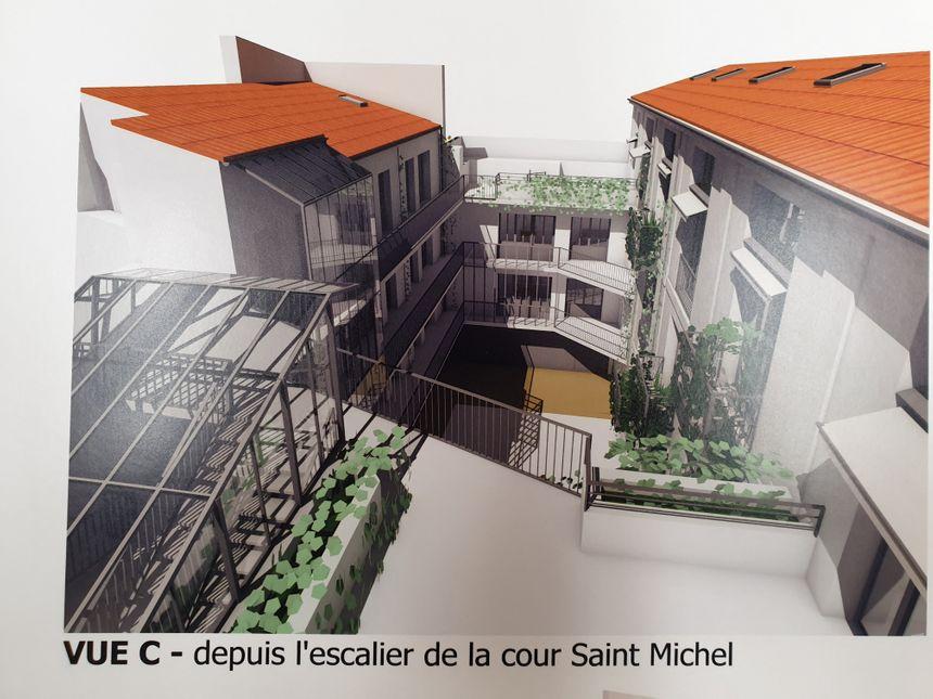 Sur cette vue d'architecte, les 20 logements que l'association Habitat & Humanisme vendra au prix du marché. Une façon d'équilibrer le budget, et de garantir la mixité sociale.