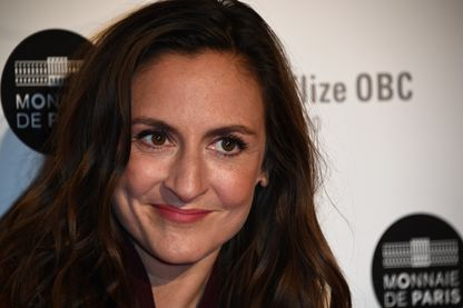 La comédienne, Camille Chamoux au Palais Brongniart à Paris, le 5 février 2019 pour la cérémonie des trophées du cinéma français.