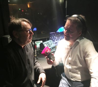 Nicolas Bône au micro de Benjamin François