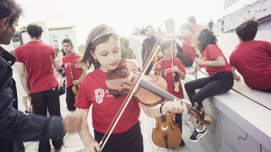 Enfants, musiciens du projet Démos