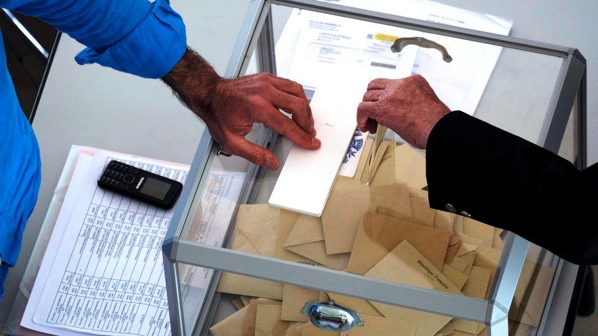 1er tour de l'élection départementale du canton de Lodève ( illustration )