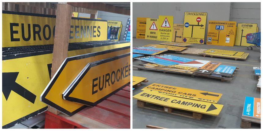 Environ 2 mille panneaux sont installés pour assurer la signalétique des Eurockéennes de Belfort