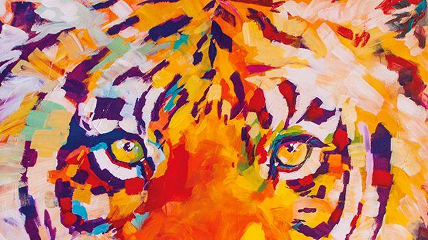 Le tigre- vedette des oeuvres de Lise Vurpillot