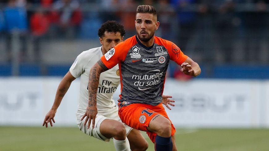 Il s'agit en fait d'un transfert définitif de Toulouse à Montpellier de l'attaquant Andy Delort (illustration)