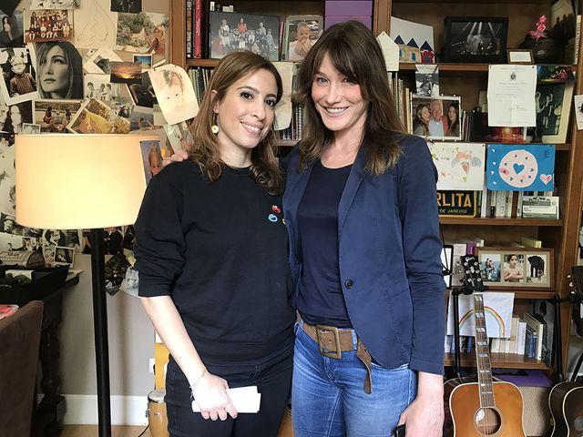 Léa Salamé et Carla Bruni chez la chanteuse