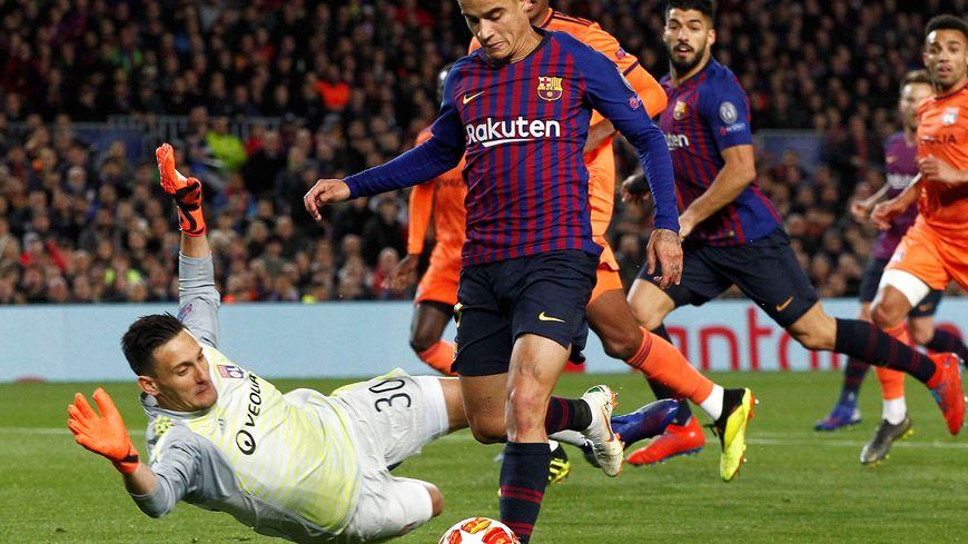 Mathieu Gorgelin a joué face au Barça en Ligue des Champions, après la blessure d'Anthony Lopes, la saison dernière