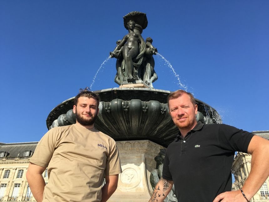 Stéphane et Adrian (fontainiers)