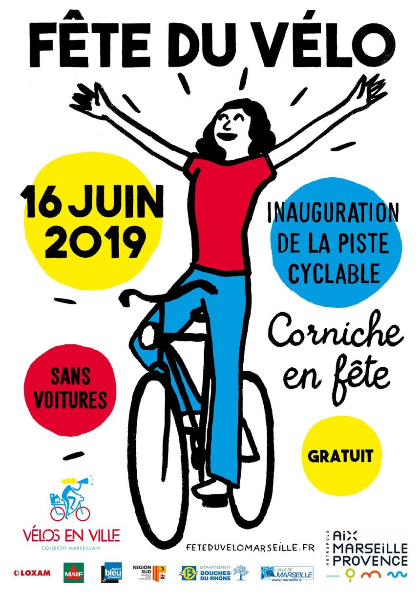 Fête du Vélo, dimanche 16 juin 2019, Corniche Kennedy
