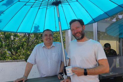 Pedro Abrantes et Georges de la Ville Baugé, les cofondateurs d'OpenBubble